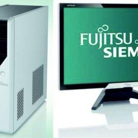 """Fujitsu Siemens Desktop quadcore μαζί με οθόνη 22"""" full HD 1920x1080"""