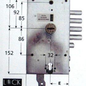 Κλειδαριά διπλή υπερασφαλείας για θωρακισμένες πόρτες μάρκας Dierre μέ defender και επιστόμια
